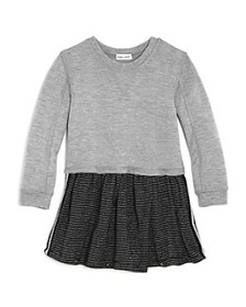 Splendid - Girls' Layered-Look Sparkle-Stripe Dres