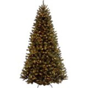 Green Spruce Artificial Christmas Tree with Warm W
