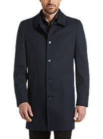 Suitor Knit Navy Slim Fit Topcoat