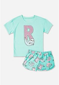 Justice Glitter Sloth Initial Sleep Set