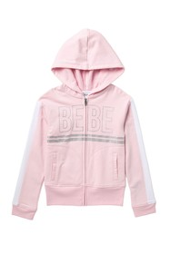 bebe Fleece Logo Hoodie (Big Girls)