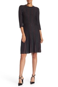 NANETTE nanette lepore Metallic Stripe Elbow Sleev
