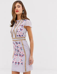 Frock & Frill shift dress with embroidered detail