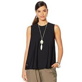 """As Is"" MarlaWynne Stretch Tech Sleeveless Top"