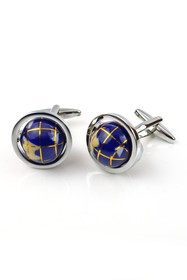 Isaac Mizrahi Spin Globe Stainless Steel Cuff Link