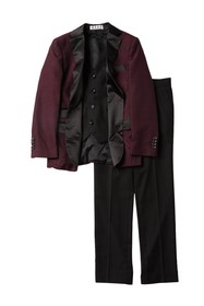 Isaac Mizrahi 3-Piece Satin Lapel Suit (Toddler