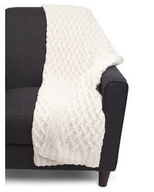 NICOLE MILLER Wave Check Knit Throw
