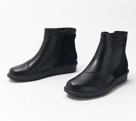 Clarks Collection Leather Ankle Boots - Michela Pe