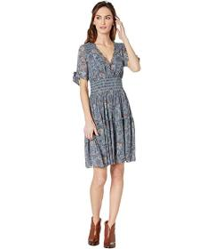 Frye V-Neck Smocked Waist Dress