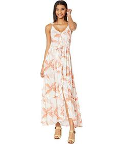 Roxy Hot Summer Lands Strappy Button Through Maxi