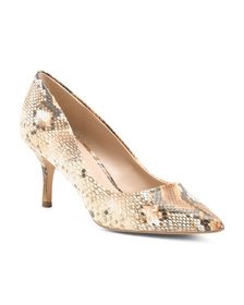 CHARLES BY CHARLES DAVID Snakeskin Embossed Pumps