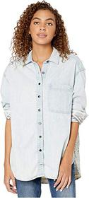 Free People Echo Rock Chambray Button