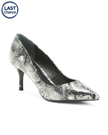 CHARLES BY CHARLES DAVID Snake Embossed Pumps
