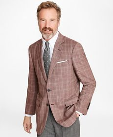 Brooks Brothers Madison Fit Rust with Tan Check Sp