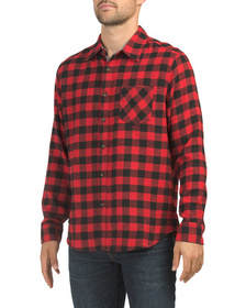 JACHS NEW YORK Long Sleeve Recycled Fabric Flannel