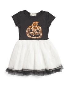 B TWEEN Little Girls Sequin Jack O' Lantern Tutu D
