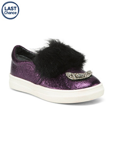 NINA Embellished Metallic Slip-on Sneakers (Toddle