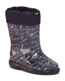 ARMANI JUNIOR Made In Italy Printed Rain Boots (To