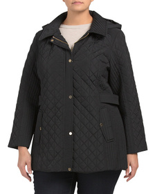 JONES NEW YORK Plus Quilted Jacket With Detachable