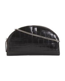 ERIC JAVITS Croco Embossed Leather Clutch