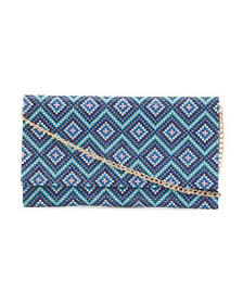 NINA Austin Diamond Pattern Bead Clutch