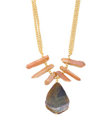 KENNETH JAY LANE Made In Usa Rose Quartz And Agate