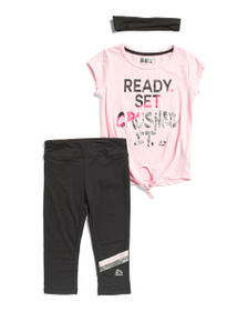 RBX Little Girls 2pc Crushed It Top And Legging Se