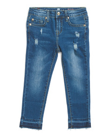 7 FOR ALL MANKIND Little Girls Ankle Skinny Jeans