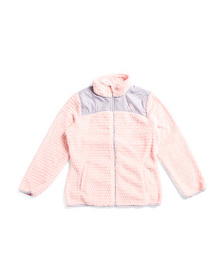 REEBOK Big Girls Fleece Zip Up Jacket