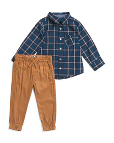 BEN SHERMAN Little Boys 2pc Woven Top And Jogger S