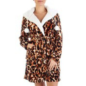 XOXO Junior Hooded Cheetah Plush Robe