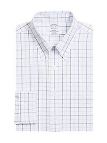 Brooks Brothers Checkered Button-Down Shirt WHITE