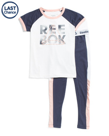 REEBOK Big Girls 2pc Training 2.0 Set