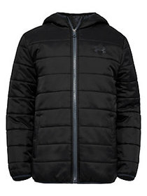 Under Armour Boy's Pronto Hooded Puffer Coat BLACK