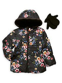 Rothschild Little Girl's 2-Piece Floral-Print Faux
