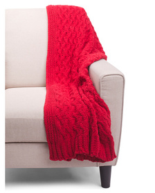 NICOLE MILLER Wave Check Chenille Throw