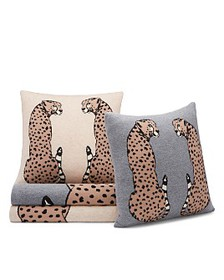 AQUA - Cheetah Decorative Pillows & Throws - 100%