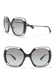 Tory Burch 54mm Vented Oversized Square Sunglasses