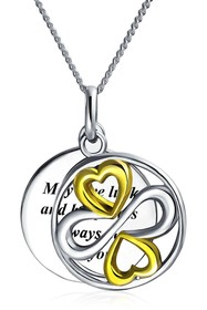 Bling Jewelry Sterling Silver Two Tone Love Luck H
