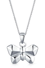Bling Jewelry Sterling Silver Origami Butterfly Ch