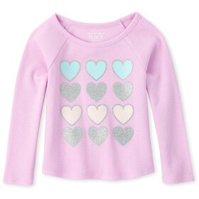 Baby And Toddler Girls Glitter Thermal Top