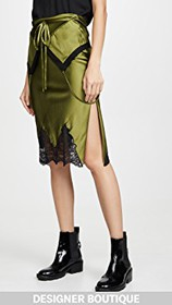 Alexander Wang Tie Fold Over Slip Skirt