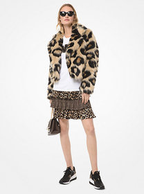 Michael Kors Leopard Faux Fur Jacket