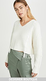3.1 Phillip Lim Cropped Ribbon Weave Sweater