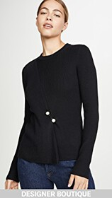 3.1 Phillip Lim Ribbed Pullover with Imitation Pea
