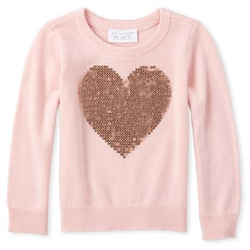 Baby And Toddler Girls Sequin Sweater