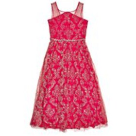 RARE EDITIONS Girls Illusion Neck Lace Dress with