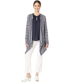 Vince Camuto Long Sleeve Sweater Like Stripe Drape