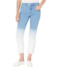 MICHAEL Michael Kors Ombre Cropped Drain Jeans in
