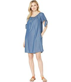 Tommy Bahama Chambray Over the Shoulder Dress w\u0